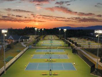 Sunset at Rome Tennis Center