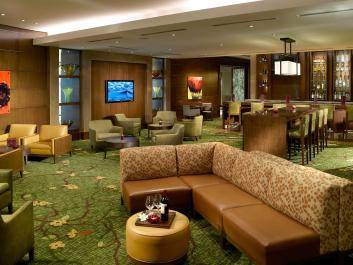 Our Marriott Greatroom with complimentary Wi-Fi, is the perfect location to work alone, relax or catch up with friends and coworkers.