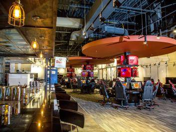 Interior Photo of Battle & Brew's Gaming Area