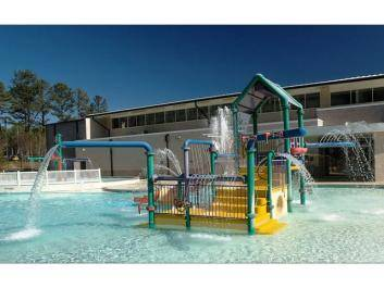Collins Hill Aquatic Center's seasonal, outdoor leisure play pool will keep your kids happy. Visit gwinnettparks.com for hours and rental information.