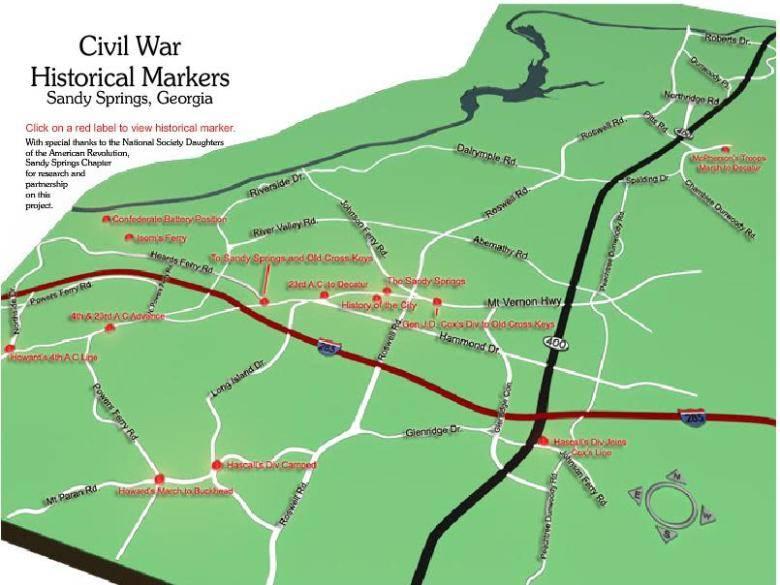 Civil War Interactive Map on