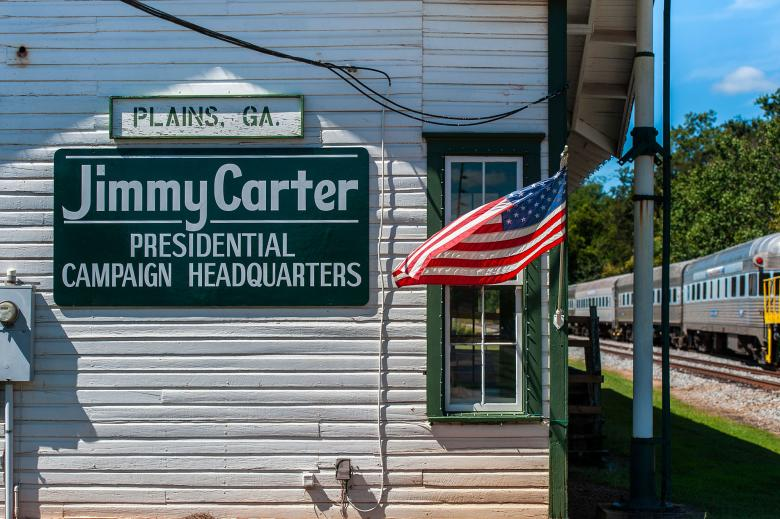 Jimmy Carter campaign headquarters in Plains, Georgia. Photo by Geoff L. Johnson