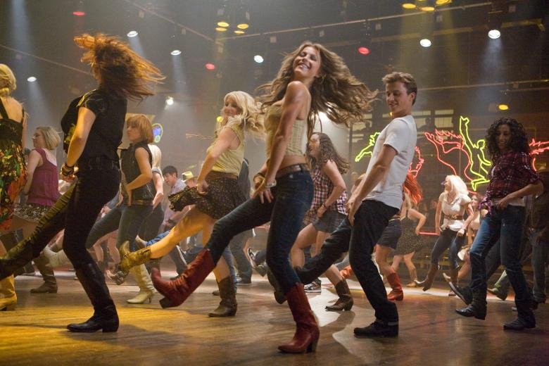 Footloose dance scene at Electric Cowboy in Kennesaw