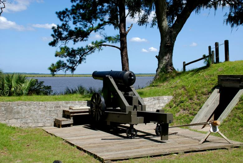 Fort McAllister State Park in Richmond Hill, Georgia