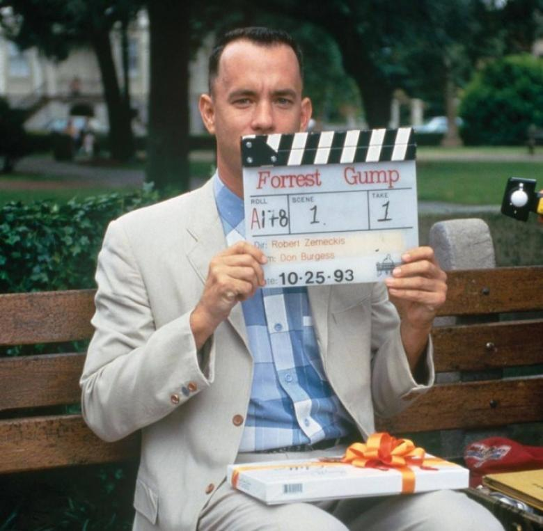 Tom Hanks filming Forrest Gump in Savannah