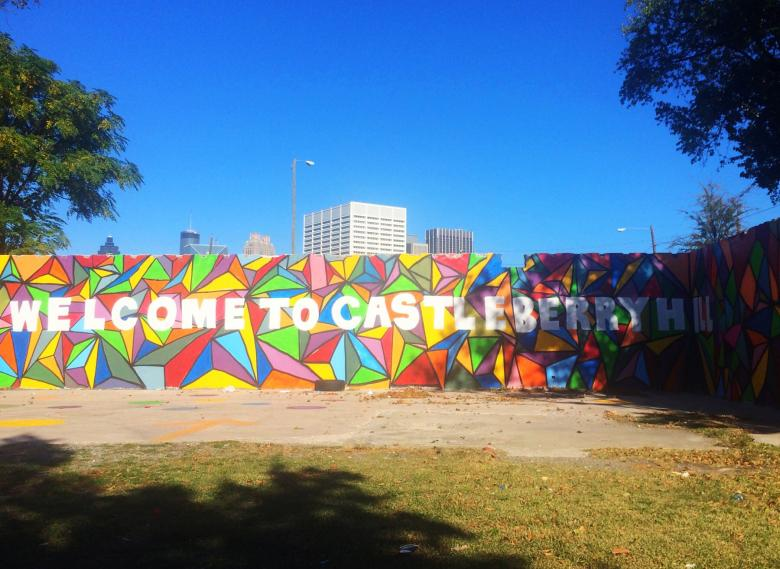 Welcome to Castleberry Hill mural